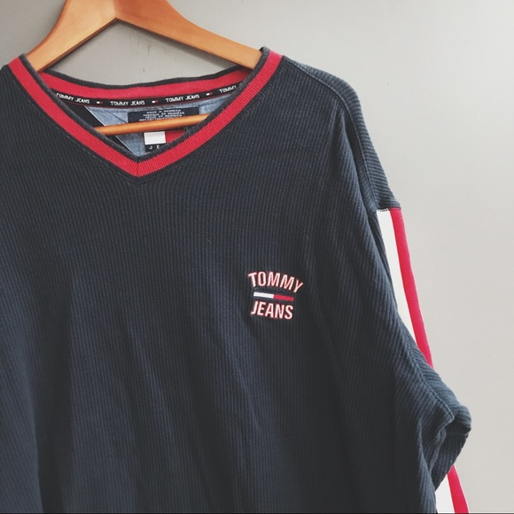 d976cf8a7 Tommy Hilfiger Shirts | Vintage 90s Spell Out Long Sleeve | Poshmark